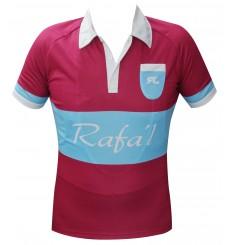 RAFA'L maillot manches courtes Vintage bordeau bleu clair 2018
