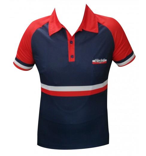RAFA'L maillot manches courtes Vintage France rouge bleu 2018