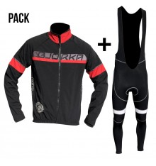 BJORKA Galibier black red jacket + bib tights pack
