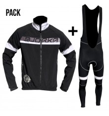 BJORKA Galibier black white jacket + bib tights pack