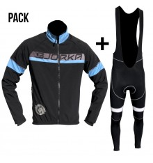 BJORKA Galibier black blue jacket + bib tights pack