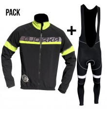 BJORKA Galibier black yellow jacket + bib tights pack