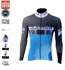 BJORKA maillot manches longues thermique Rainbow Bleu 2019