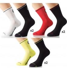 ASSOS 2 paires de chaussettes été Mille EVO7
