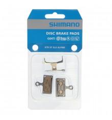 Plaquettes de freins à disque VTT SHIMANO G02A résine