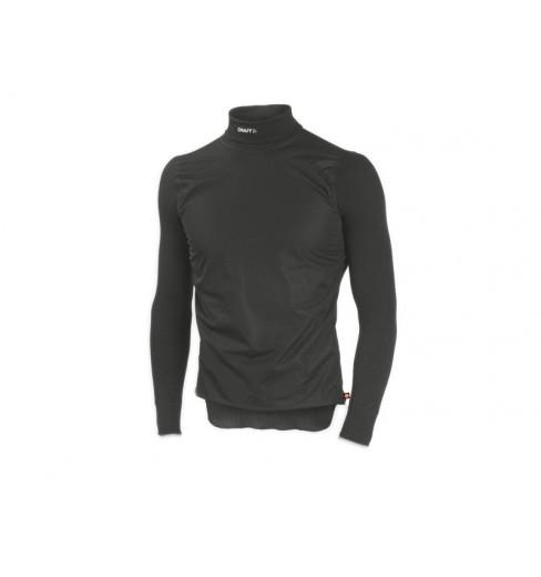 CRAFT maillot BE ACTIVE Windstopper col roulé noir/lave