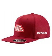 Casquette podium Team KATUSHA ALPECIN rouge 2019