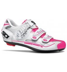 Chaussures vélo route femme SIDI Genius 7 blanc / rose fluo