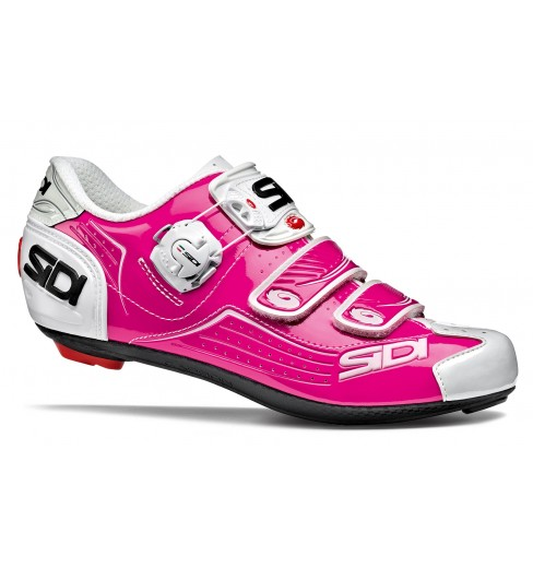 Chaussures vélo route femme SIDI ALBA rose / blanc