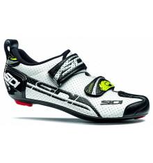 Chaussures vélo route triathlon SIDI T4 Air Carbon blanc / noir
