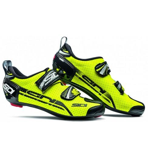 grossiste 52fc5 36ca6 Chaussures vélo route triathlon SIDI T4 Air Carbon jaune fluo / noir