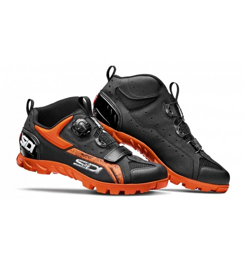 SIDI Defender black orange men's MTB shoes