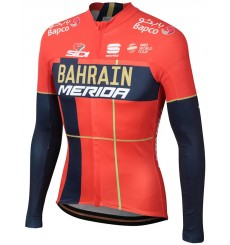 BAHRAIN MERIDA Thermal long sleeve jersey 2019