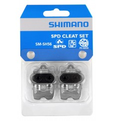 Shimano SM-SH56 SPD multi-directional silver cleats + plate