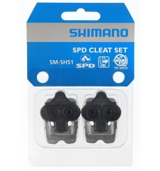 Shimano SM-SH51 SPD lateral black cleats + plate