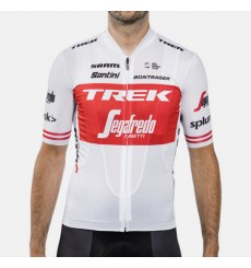 TREK SEGAFREDO Replica white Tour de France short sleeve jersey 2019