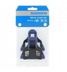Cales vélo route SHIMANO SM-SH12 SPD-SL bleu