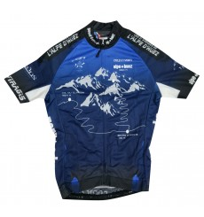 ALPE D'HUEZ blue short sleeves jersey 2019