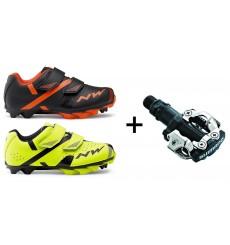 NORTHWAVE chaussures VTT junior Hammer 2 + pédales Shimano M520