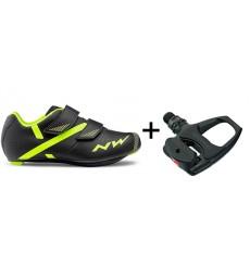 Northwave chaussures Torpedo 2 Junior + pédales Shimano R540