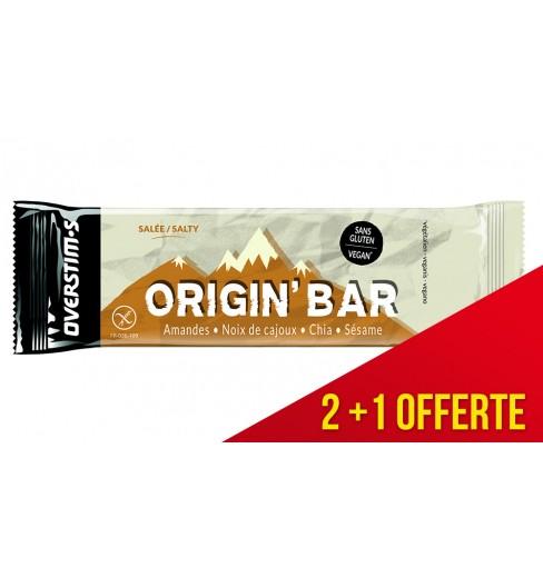 Pack de 3 Barres Énergétiques Overstims Origin' Bar Salé 40 g - 1 offerte
