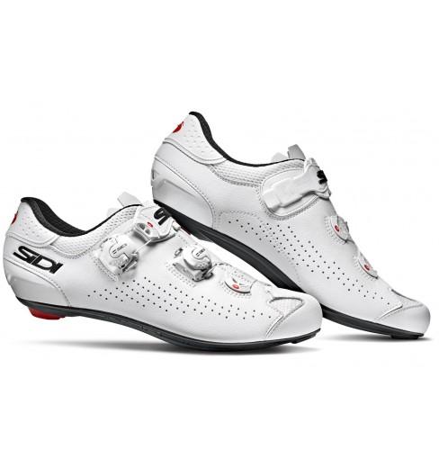 SIDI Genius 10 white road cycling shoes