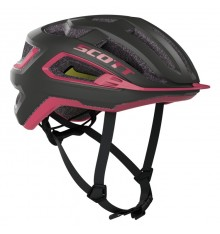 SCOTT Arx PLUS Black/Pink road helmet 2020