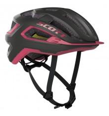 SCOTT casque de vélo route Arx PLUS Noir / Rose 2020