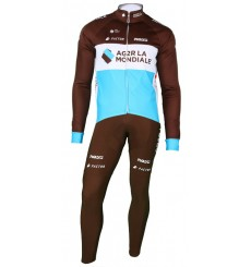 AG2R winter cycling set  2018 with thermal jacket