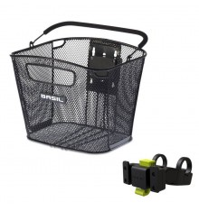 BASIL Bold Front Klickfix bike basket With Klickfix Handlebar holder