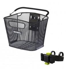 BASIL Bold Front Klickfix bike basket With Klickfix Handlebar holder