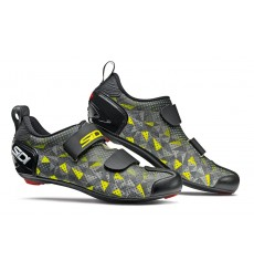 Chaussures vélo route triathlon SIDI T5 Air Carbon gris / jaune 2020