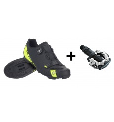 SCOTT MTB FUTURE PRO kid shoes + Shimano M520 MTB pedals