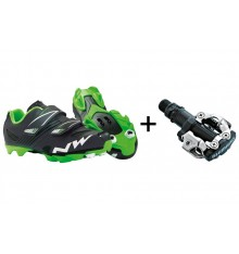 NORTHWAVE Hammer junior MTB kids' bike shoes + Shimano M520 pedals