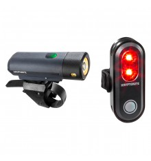 KRYPTONITE Combo Street F-500 Lumen front bike light + back Avenue R-45
