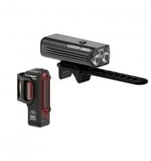 LEZYNE MACRO Drive 1300XXL + STRIP front and back light set