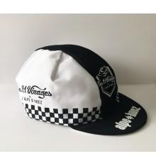 ALPE D'HUEZ checkerboard black/white summer cap