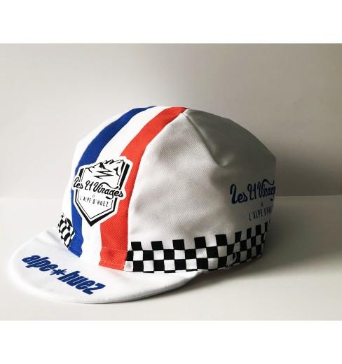 ALPE D'HUEZ checkerboard blue/white/red summer cap