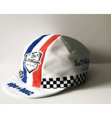 ALPE D'HUEZ checkerboard blue/white/red summer cap