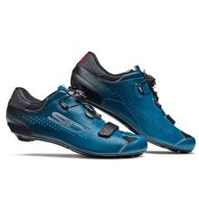 Chaussures vélo route SIDI Sixty noir bleu pétrole 2021 - Edition limitée