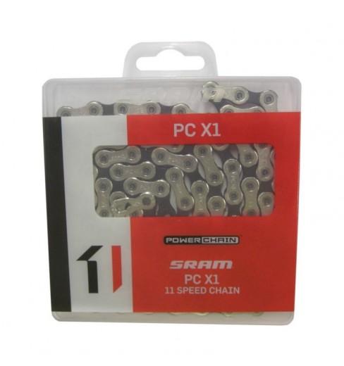Chaine de vélo SRAM PC- X1 11 VITESSES 118 maillons grise