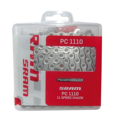 Chaine de vélo SRAM PC-1110 11 VITESSES 114 maillons grise