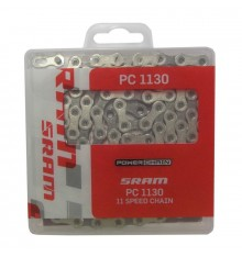 Chaine de vélo SRAM PC-1130 11 VITESSES 144 maillons Grise