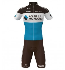 AG2R 2020 cycling set with short sleeve jersey