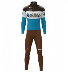 AG2R 2020 WINTER CYCLING SET WITH LONG SLEEVE JERSEY