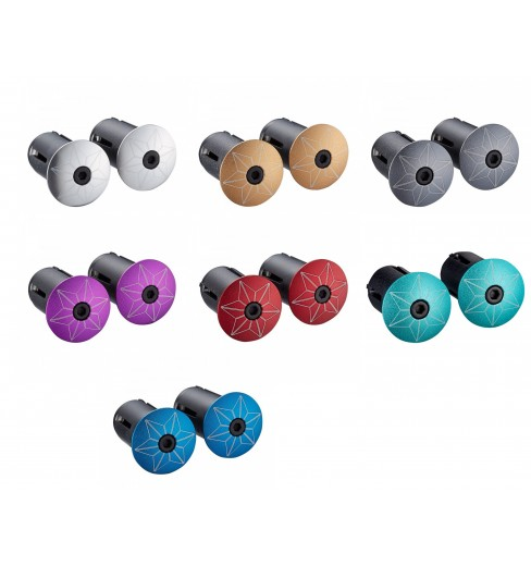 Supacaz Star Plugz Anodized bar plugs