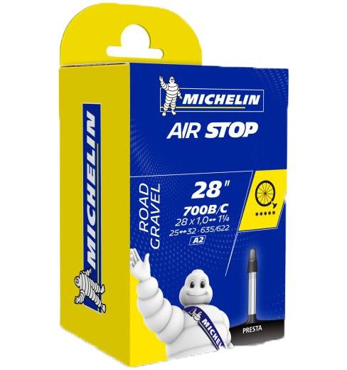 Michelin chambre à air route Airstop A2 700X25/32 Presta 40 mm non filetée