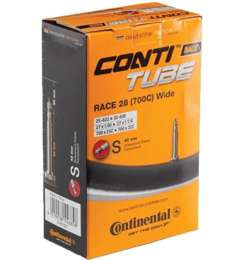 CONTINENTAL  Chambre à air de vélo route  Race 28 700x25-32 valve PRESTA 42 mm