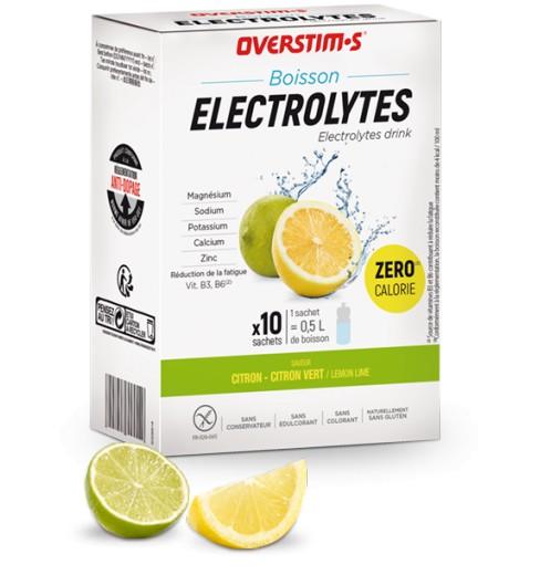 OVERSTIMS Boisson Électrolytes boite de 10 sachets