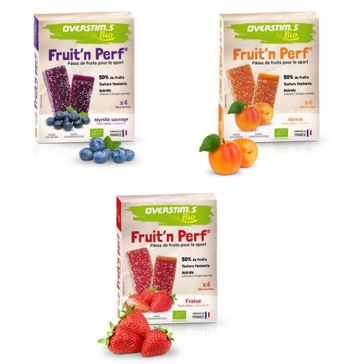 OVERSTIMS PATES DE FRUITS BIO Fruit'n Perf étui de 4 barres